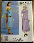 Vintage ISSEY MIYAKE Vogue Uncut Sewing Pattern 2566 Top and Skirt All Sizes