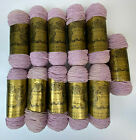 Vintage New Old Stock Lot of 11 VELVEEN Lilac STEINS YARN KNITTING