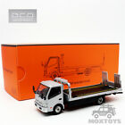 GCD 164 HINO 300 Flatbed Tow Truck Pearl Silver Diecast Model Car