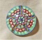 Perthshire Art Glass Paperweight Millefiori  Ribbons EXC Condition 1990s 25