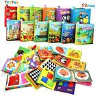 My First Soft Book Nontoxic Fabric Baby Cloth Activity Crinkle Soft Books for