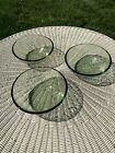 FIRE AND LIGHT Recycled Glass Olive 6 Cereal Soup Dessert Bowl X3