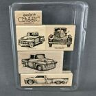Stampin Up Classic Pickups Rubber Stamp Set of 5 Vintage Antique Trucks New