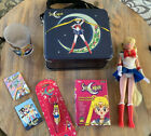 VINTAGE SAILOR MOON COLLECTIBLES LOT OF 7 LUNCH BOX IRWIN DOLL KEYCHAIN GLASS +