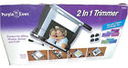 Purple Cows 2 In 1 Rotary Paper Trimmer  Cutter New Opened Box