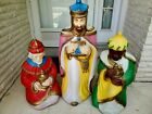 Empire Nativity Blow Mold 3 Wise Men Christmas Kings Plastic Lighted Set 1970s