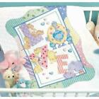 Dimensions Zoo Alphabet Baby Quilt Stamped Cross Stitch Kit