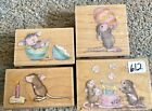 House Mouse Stamp Rubber Stamps Lot 612 Lot Of 4 House Mouse Stamps