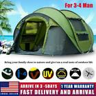 3 4 Person Automatic Pop Up Tent Waterproof Outdoor Large Camping Hiking Tent US