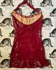 Vintage Vex Latex Couture Rubber Pin Up Dress RARE Custom Made S M
