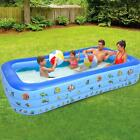 295170cm Inflatable Swimming Pool Blow Up Family Pool For Kids Indoor Outdoor