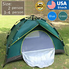 US 2 4 Person Automatic Pop Up Outdoor Tent Camping Backpacking Tents Waterproof