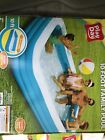 Play Day Inflatable 10 Foot Rectangular Family Swimming Kiddie Family Dog Pool