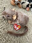 """Ty Beanie Baby Retired """"Tiptoe the Rat"""" RARE! Mint Tag"""