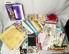 Huge Random Lot Scrapbooking Paper and Stickers Different Sizes Some Cardstock