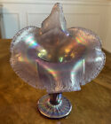 Fenton Glass Vase Jack in the Pulpit Carnival Frost
