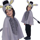 Kids Donkey Cape Costume with Hood Nativity Christmas Play Outfit
