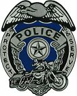 POLICE BADGE Protect  Serve High Thread Heat Sealed Sew Iron On Patch 8 x 10