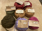 Lot 8 New Manos Del Uruguay Yarn Handcrafted Kettle Dyed Pure Wool Destash pink