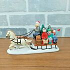 1993 Lemax Dickensvale Country Sleigh Ride Bottle Brush Trees Christmas Village