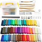 Polymer Clay 50 Colors POZEAN Modeling Clay Kit DIY Oven Bake Clay with Sculpti