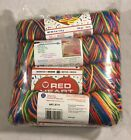 Red Heart Kids Yarn 2930 Crayon Lot of 4 Skeins Colorful Bright Acrylic