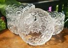 LE Smith Clear Glass Moon and Stars 45 Inch Berry Dessert Candy Nut Bowls 6pc