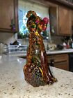 Hand Made Genuine Venetian Glass Poodle Dog 7 Made in Italy Gold Flakes