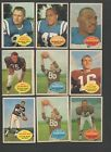 1960 Topps Football Card Partial Set-47 132 different-34% of the Set.