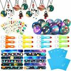 Outer Space Party Favors Supplies Space Toys Slap Bracelets Tattoo Stickers