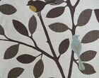 Vintage MCM Upholstery Home Decor Fabric Birds in Tree Branches 26 + yds