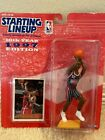 1997 Clyde Drexler Houston Rockets Starting Lineup with Card