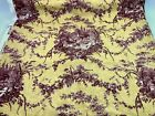 5 Yards La Petite Ferme Red Gold Toile Rooster Waverly Home Decor Fabric NEW Q4
