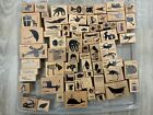 Huge Lot of 72 Various Cats on Appletrees Wood Mounted Rubber Stamp Set