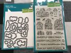 Lawn Fawn clear stamp set + metal dies SPOOKY VILLAGE Made in USA Halloween