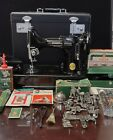 SINGER FEATHERWEIGHT 221 SEWING MACHINE OUTSTANDING CONDITION BEAUTIFUL