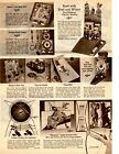1962 Christmas Catalog page only Flintstones Pop Up Bowling Beany's Bean Bag