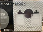 Manor Brook Royce 13 in 2 Light Black Vanity Light with White and Clear Glass