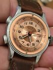 1940s Basis Chronograph Vintage Watch Works well and keeps time Copper dial