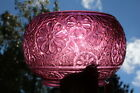 Great Antique Gas Oil Electric Lamp Pink Cut Glass Shade Flower Design Baccarat