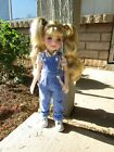 Floral Shirt Overalls for 145 Ruby Red Fashion Friends Wellie Wisher Dolls