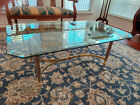 PRICE DROP Glass and Brass Coffee Table