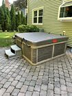 Spa Hot Tub with Integrated Hardshell Cover 6 person