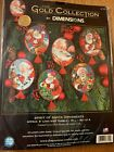 Dimensions Gold Collection Spirit of Santa Ornaments Cross Stitch Kit Makes 6