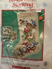 Forest Birds Christmas Stocking Dimensions Cross Stitch KIT 1991 8412 Sealed