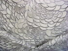 2 5 8Y Holly Hunt 1182 Sensa Iced Embroidered Plumage Cloud Upholstery Fabric