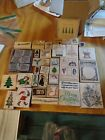 Huge Lot Of 39 Rubber Stamps Christmas Theme