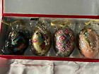 Joan Rivers Classic Collection Russian Egg Ornaments Set of 4 with Box 2007