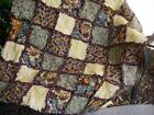 Boutique Fall Rag Quilt Sunflowers Hand Made in the USA