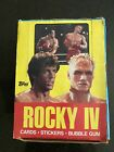 Rocky IV trading cards box with 36 Factory Sealed Wax Packs.